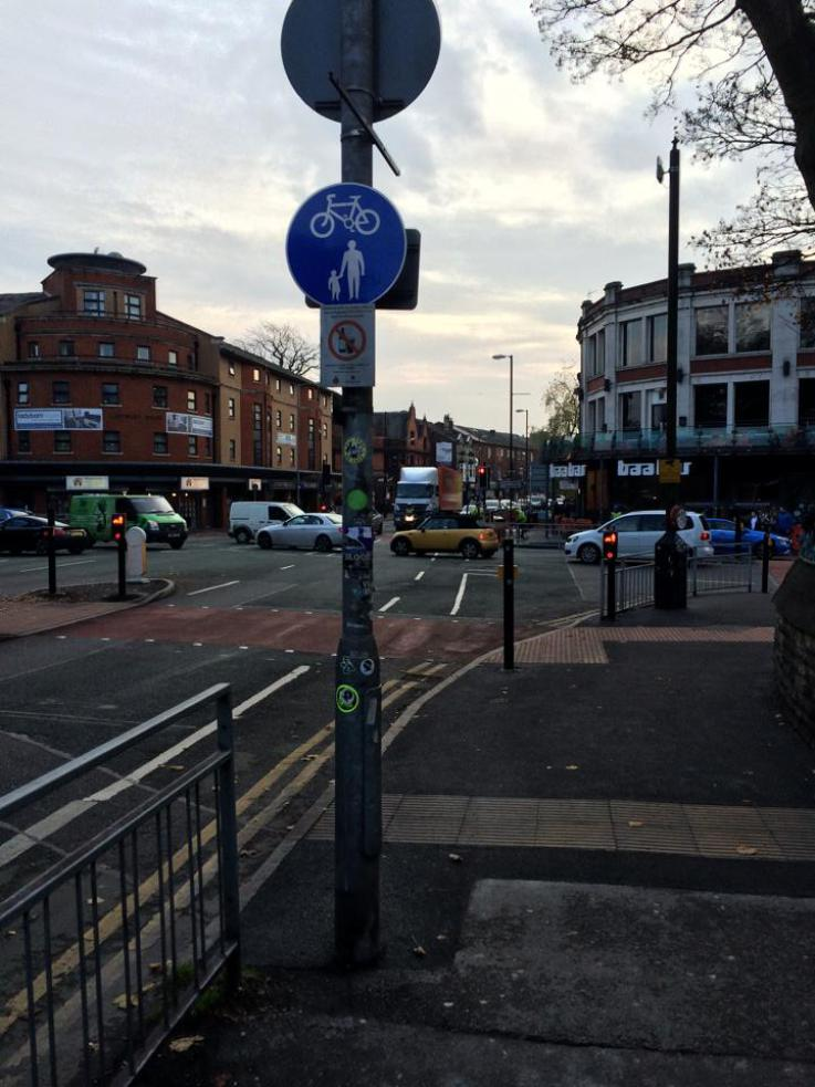 The witness met the victim at a Wilmslow Road bus stop