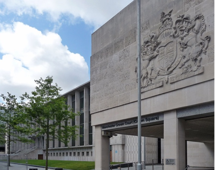 Manchester Crown Court, where the attackers were sent down.