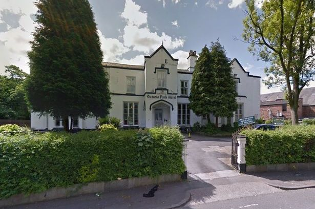 The schoolgirl was attacked in room 38 of the Victoria Park Hotel, Rusholme.