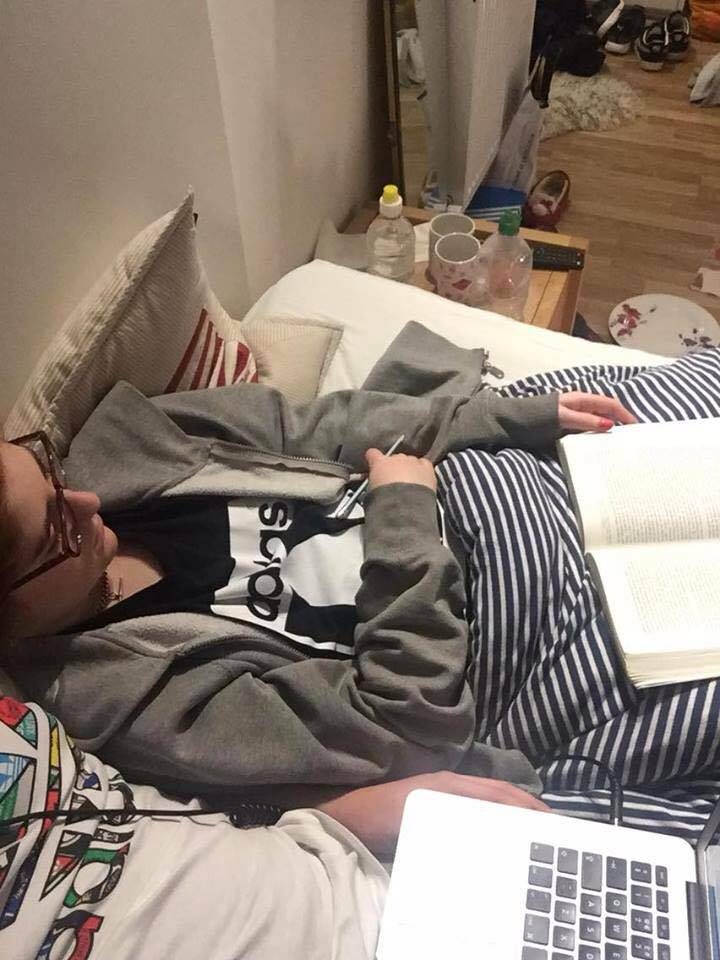My boyfriend took this picture of me when I fell asleep working