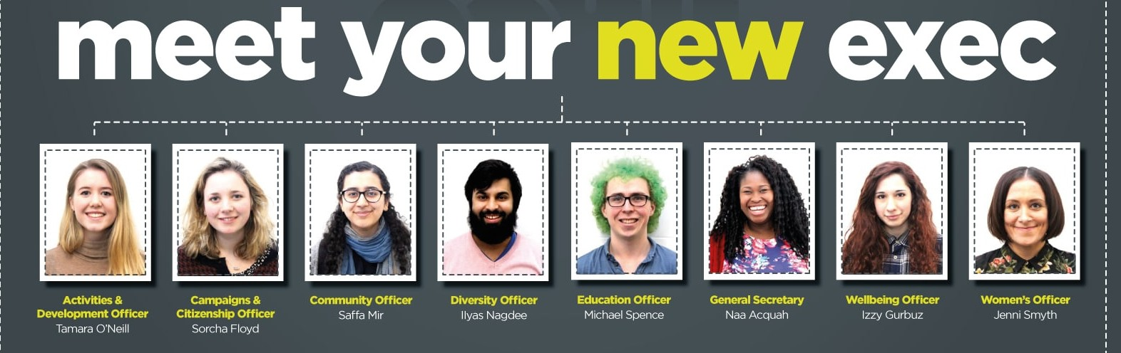Meet your new SU exec team