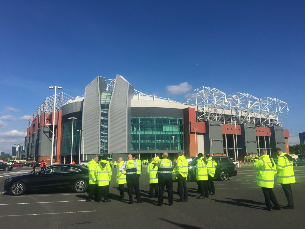 Old Trafford, after the bomb scare