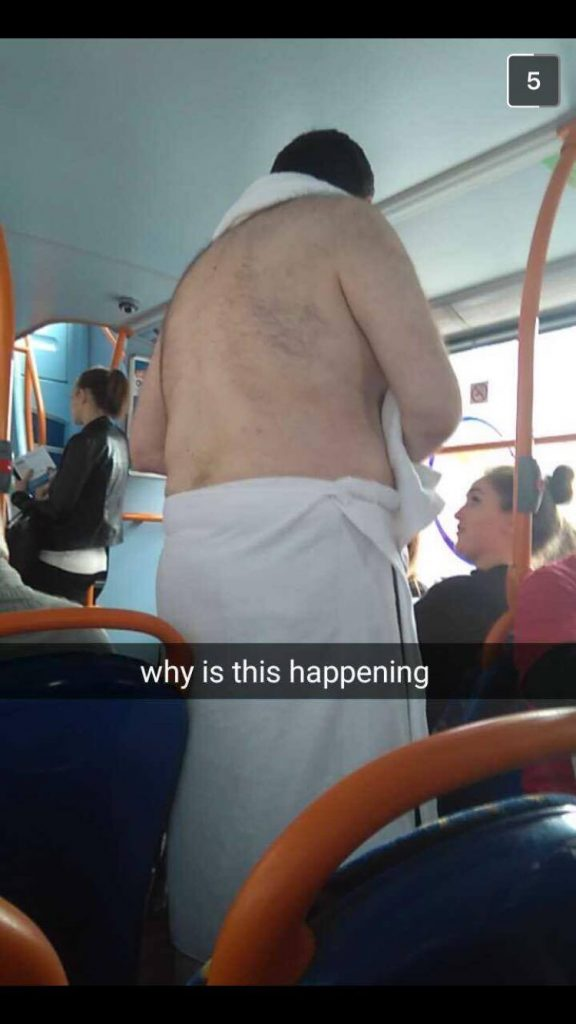 The moment was captured by Roisin on her bus journey