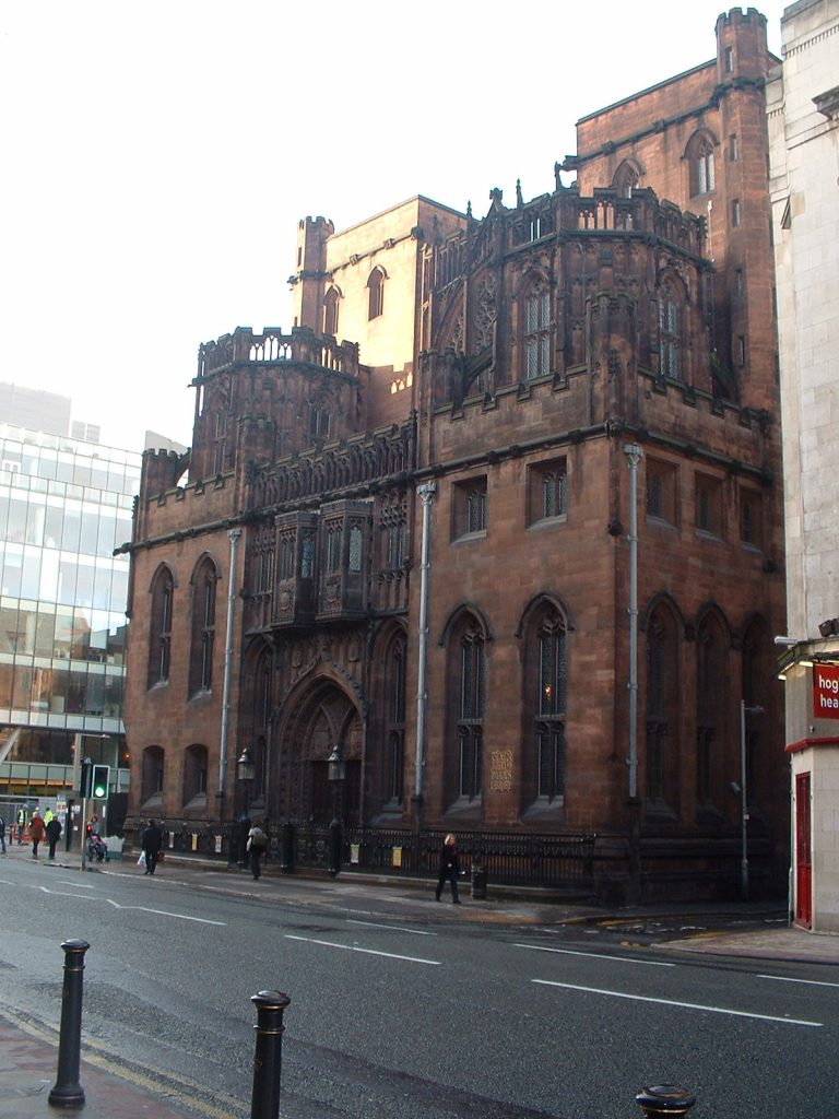 The young woman was attacked down a quiet side street, by the John Rylands Library.
