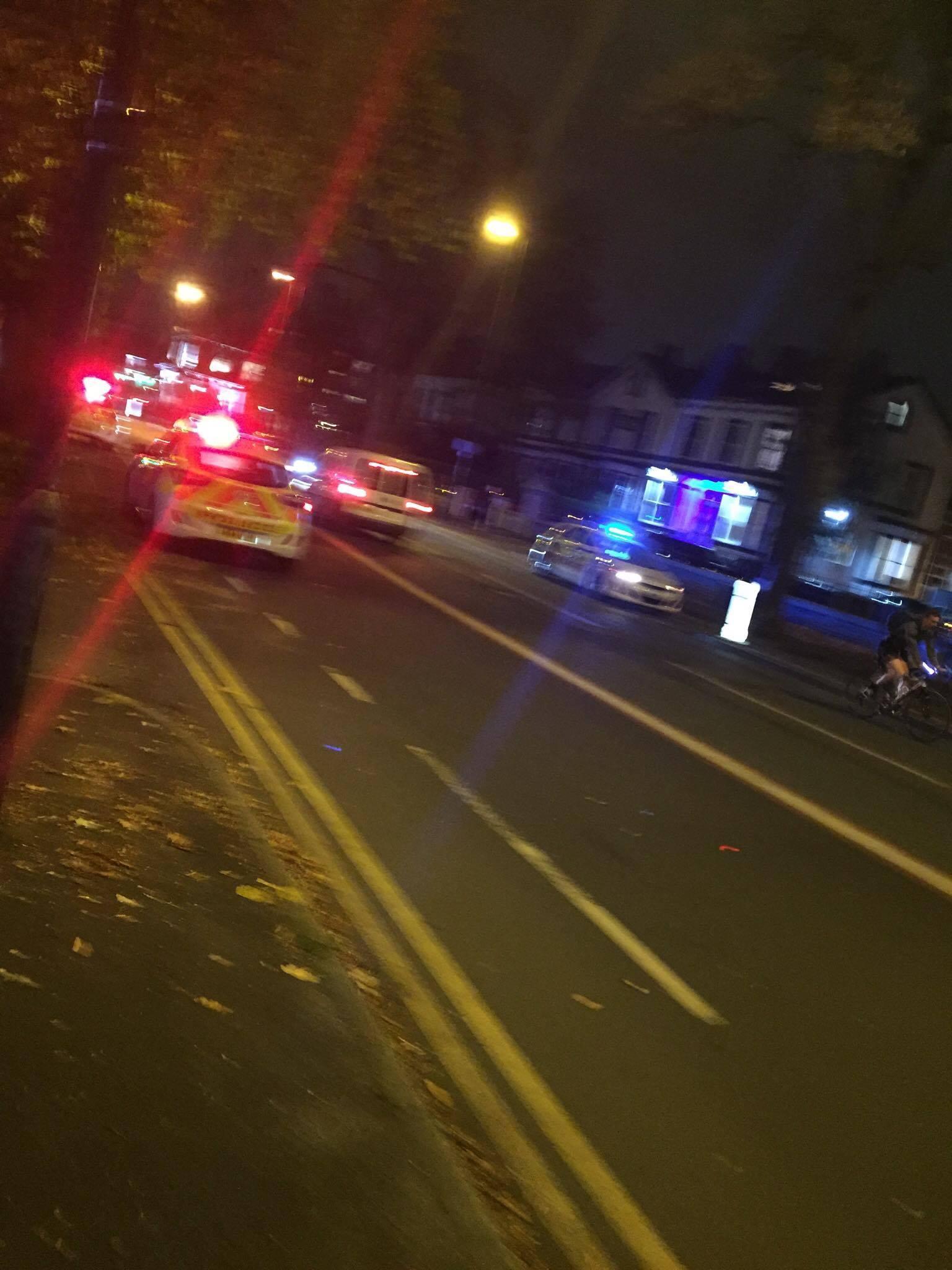 Police presence in Fallowfield last night
