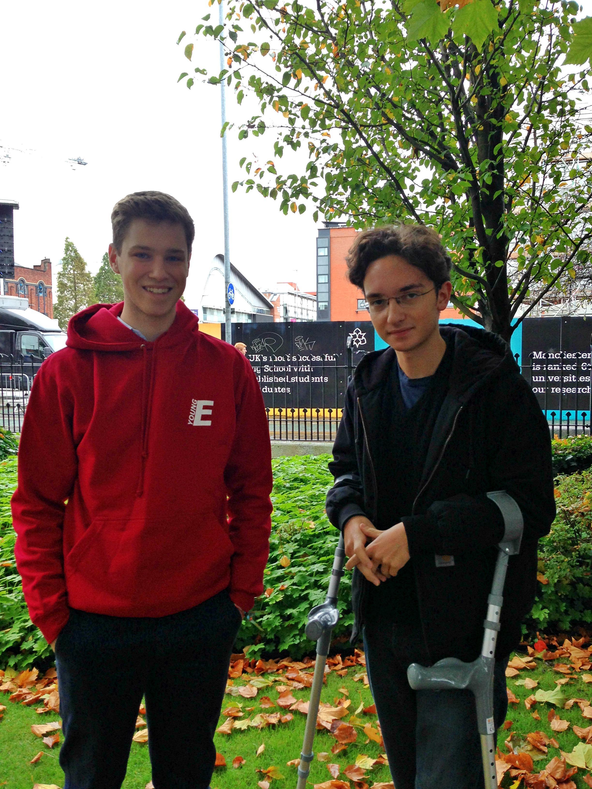 Felix (left)
