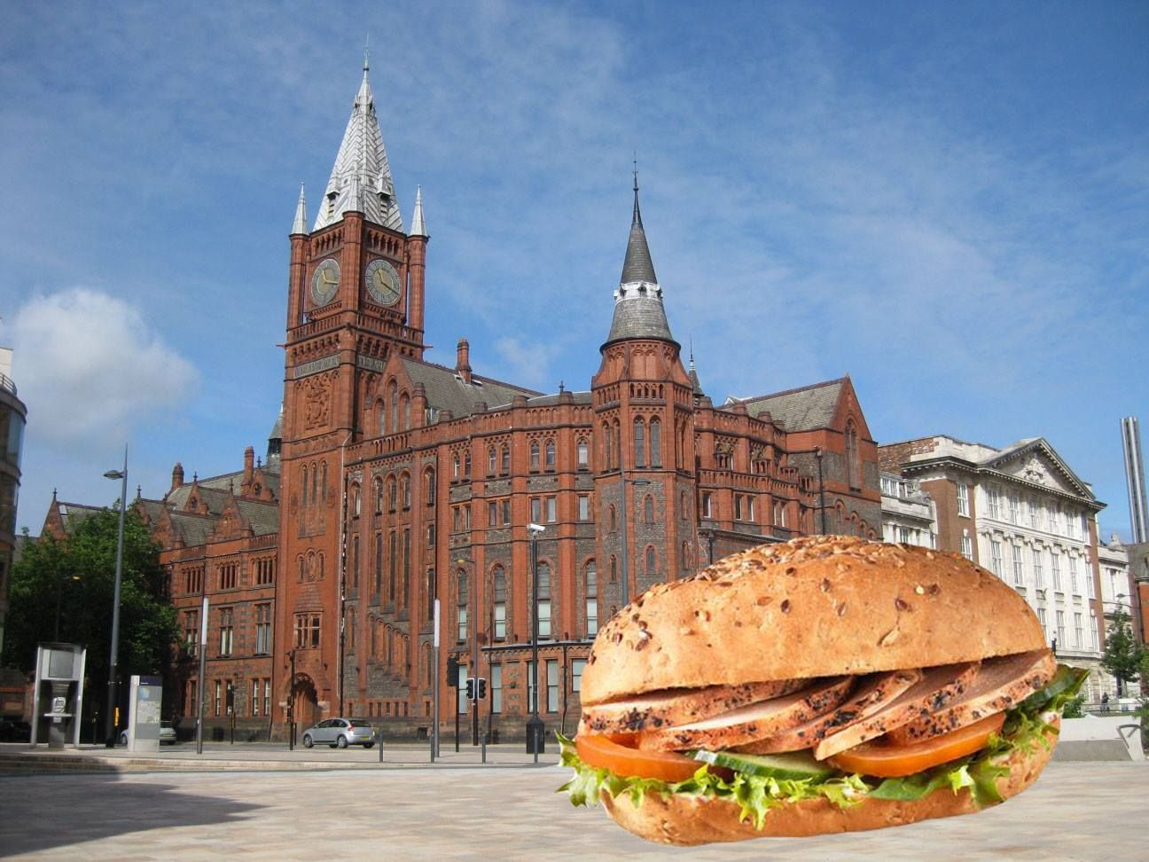 Image may contain: Steeple, Spire, Church, Cathedral, Bread, Bagel, Burger, Tower, Worship, Mosque, Dome, Building, Architecture, Sandwich, Food