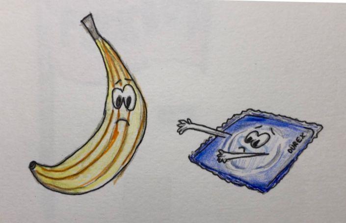 Image may contain: Pattern, Art, Plant, Banana, Food, Fruit