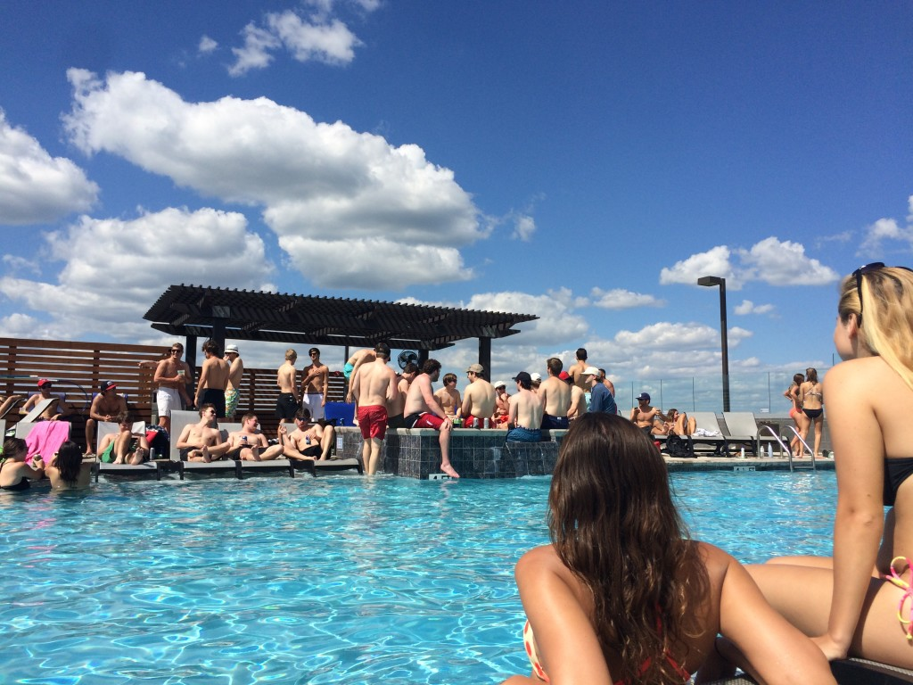The Infinity Style Pool At Standard Always Draws A Large Crowd On Weekends