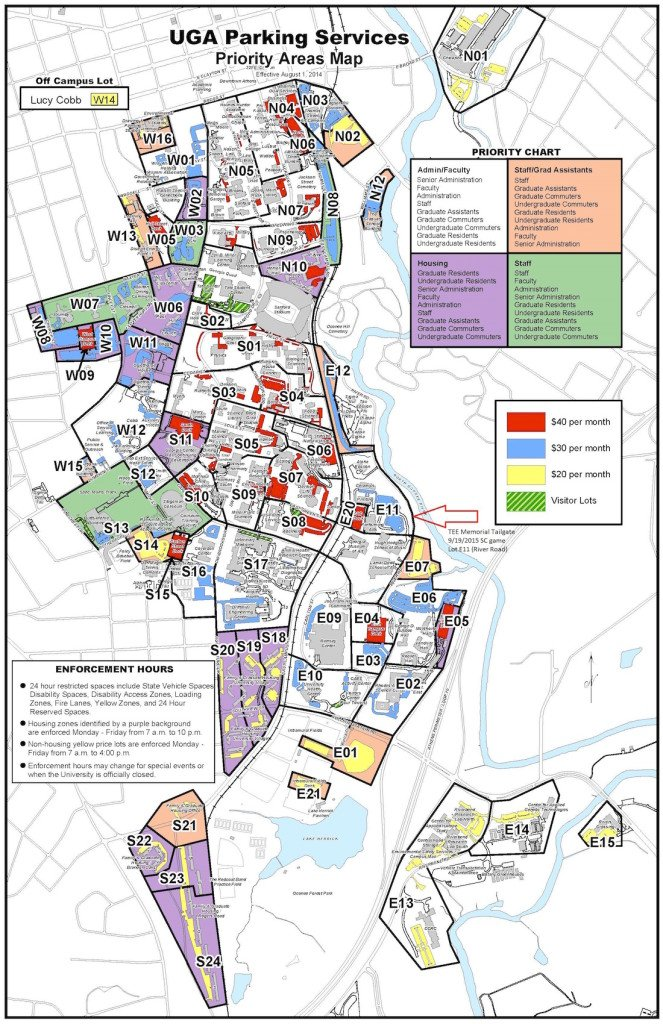 Uga Parking Map How to avoid UGA graduation traffic and where to park Uga Parking Map