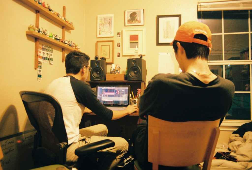 Tommy Trono (left) & Mace Lee (right) putting the final touches on their album