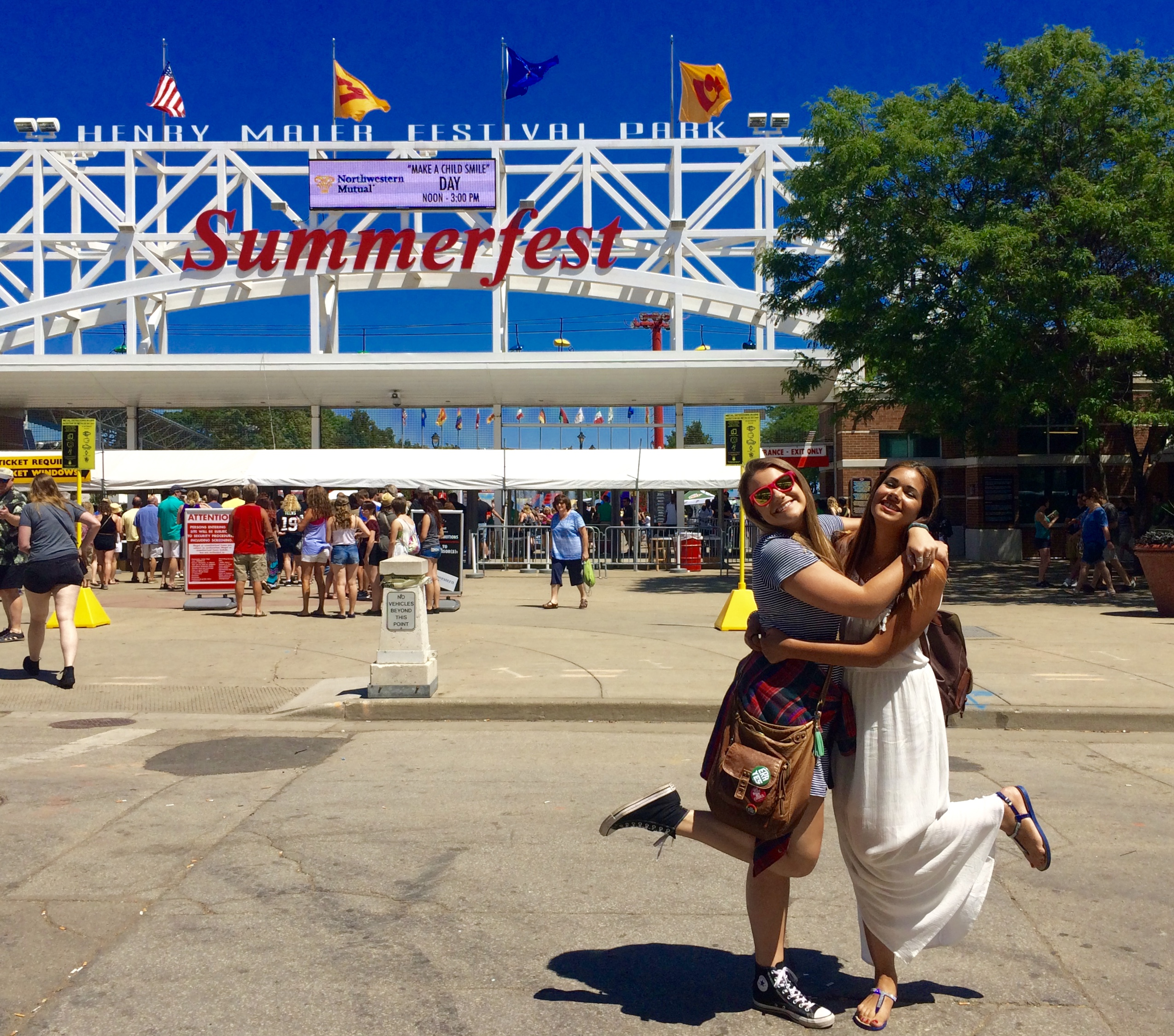 Summerfest in Milwaukee, WI was unlike anything she had ever seen
