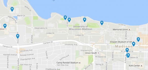 Uw Madison Campus Map Of Sexual Assaults