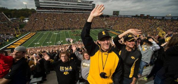Hawkeye Marching Band Forms Giant Hand To Wave To The