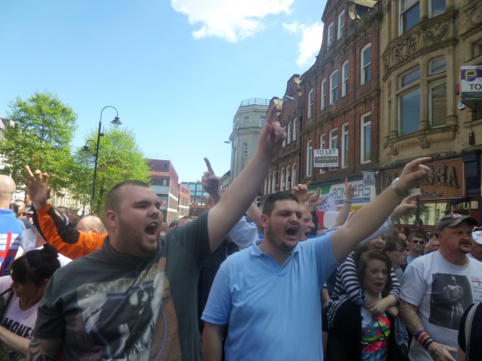 Though they were quite keen for the police to know they were EDL.