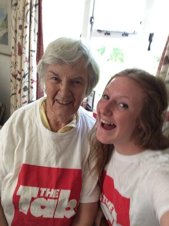granny selfie