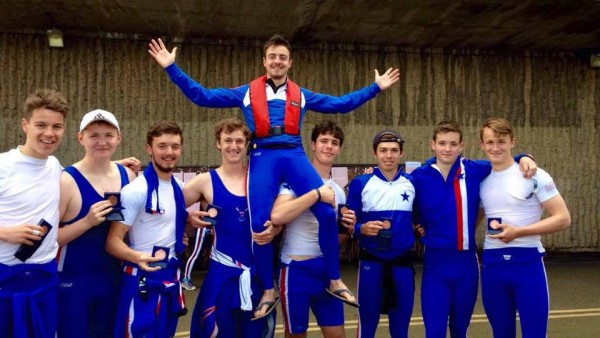 Novice Mens and their cox last weekend