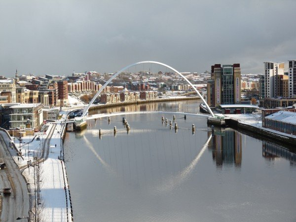 Snow occurs regularly in Newcastle