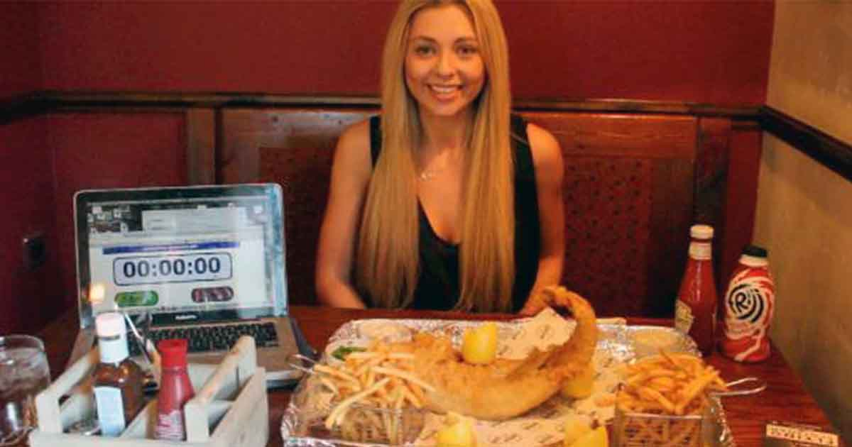 Kate's food challenges: I ate 35oz of fish and chips in 20 minutes