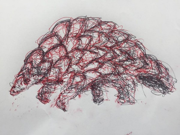 Pangolins look like this.