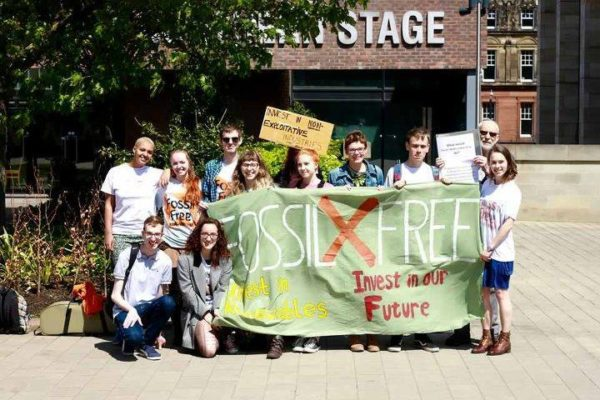 Some of the Fossil Free campaign team. -Image - Harry Vann -