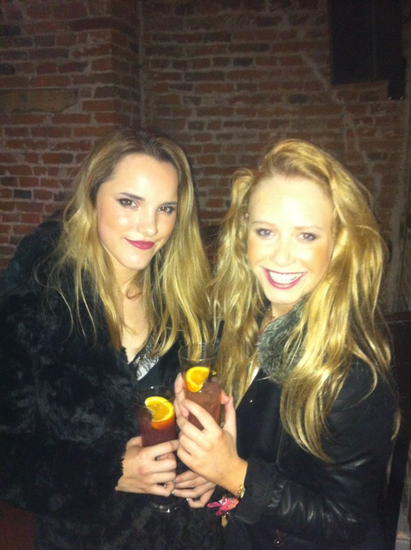 That time we were actually served - cue 100000 pics of us with drinks