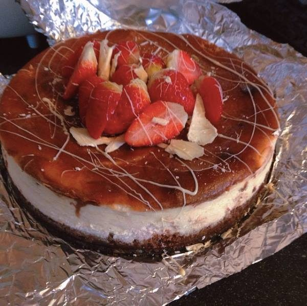 The Strawberry-Brownie cheesecake