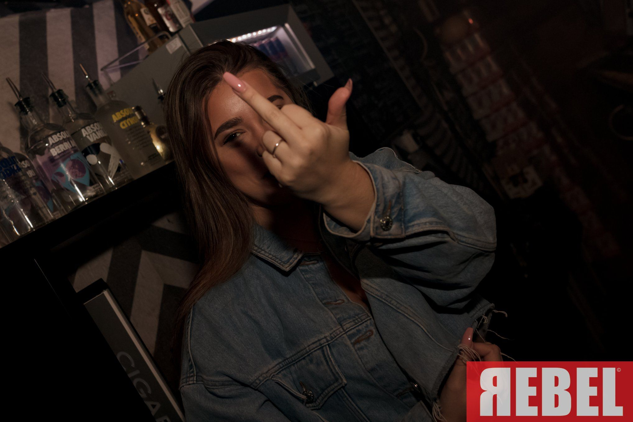 Image may contain: Pub, Bar Counter, Finger, Person, Human