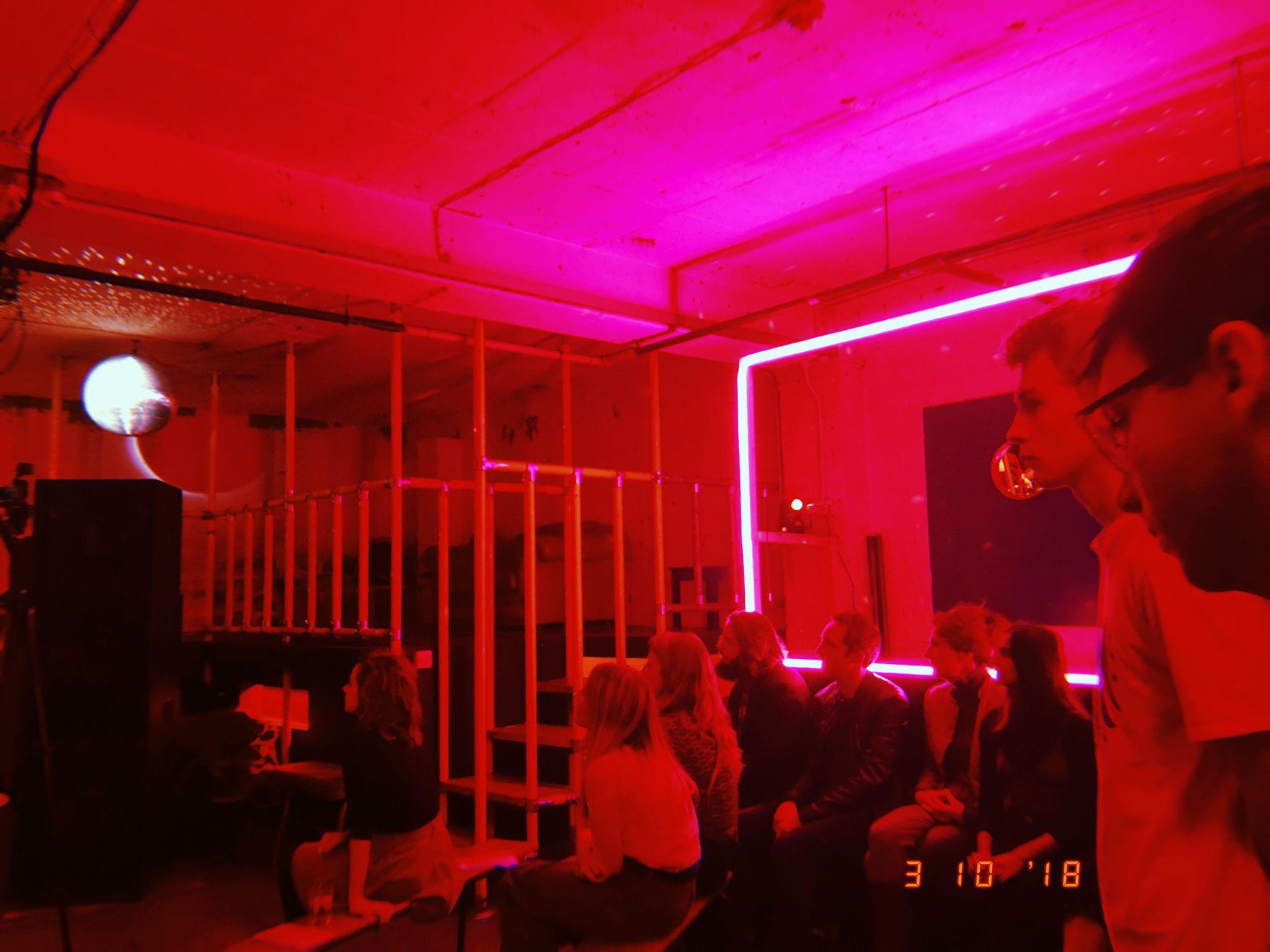 Image may contain: Night Life, Club, Lighting, Light, Human, Person, Interior Design, Indoors