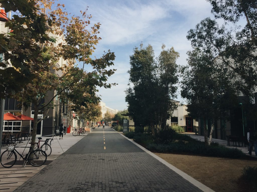 """Facebook HQ """"Main Campus"""" set up like a town"""