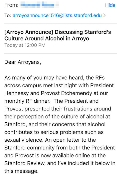 One of the many RF emails