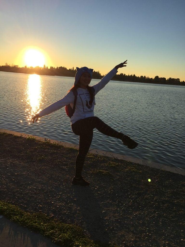Lake Elizabeth at sunset