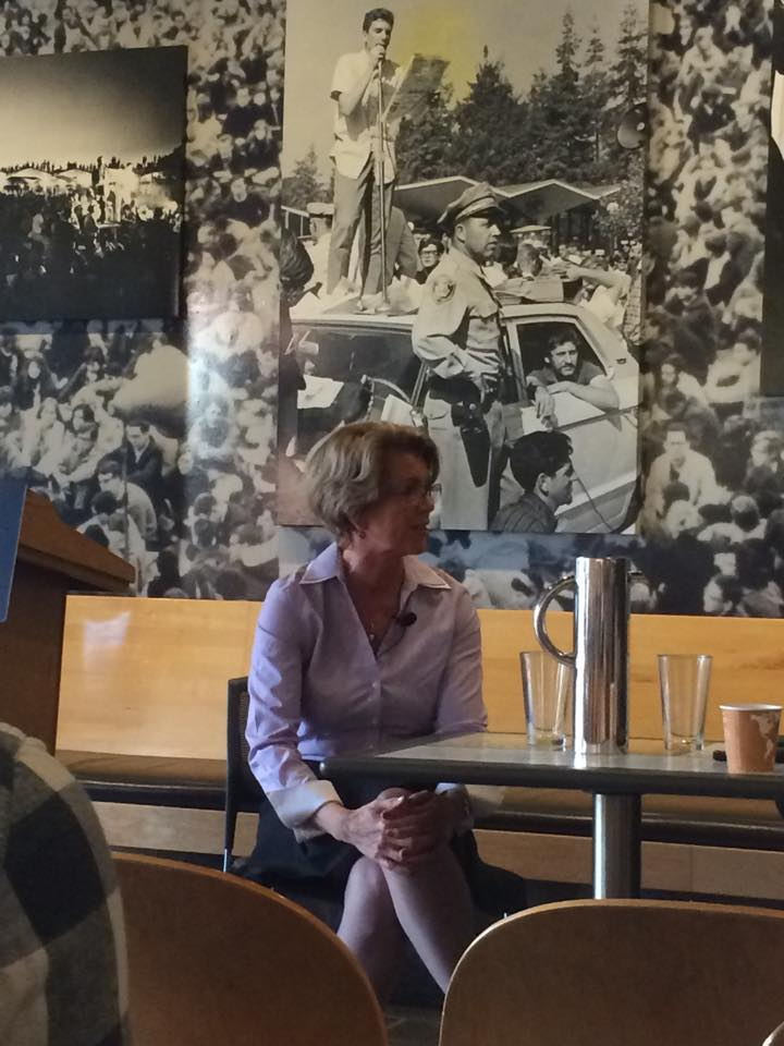 Marie Haga, executive director of the Crop Trust, spoke to UC Berkeley students Wednesday afternoon