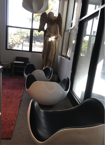 At The Second Floor Of College Of Environmental Design, You Could See Three  Cute Eggshell Shapped Napping Chairs Right Next To Our Beautiful Goddess  That ...