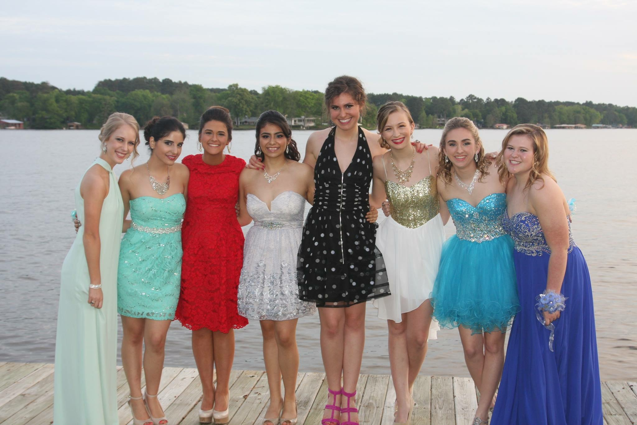 Pre-prom photo with my girls in Longview