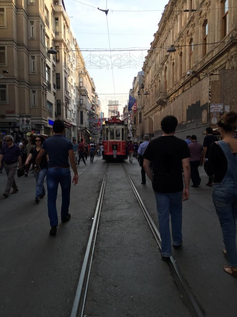 Tram in Beyoglu