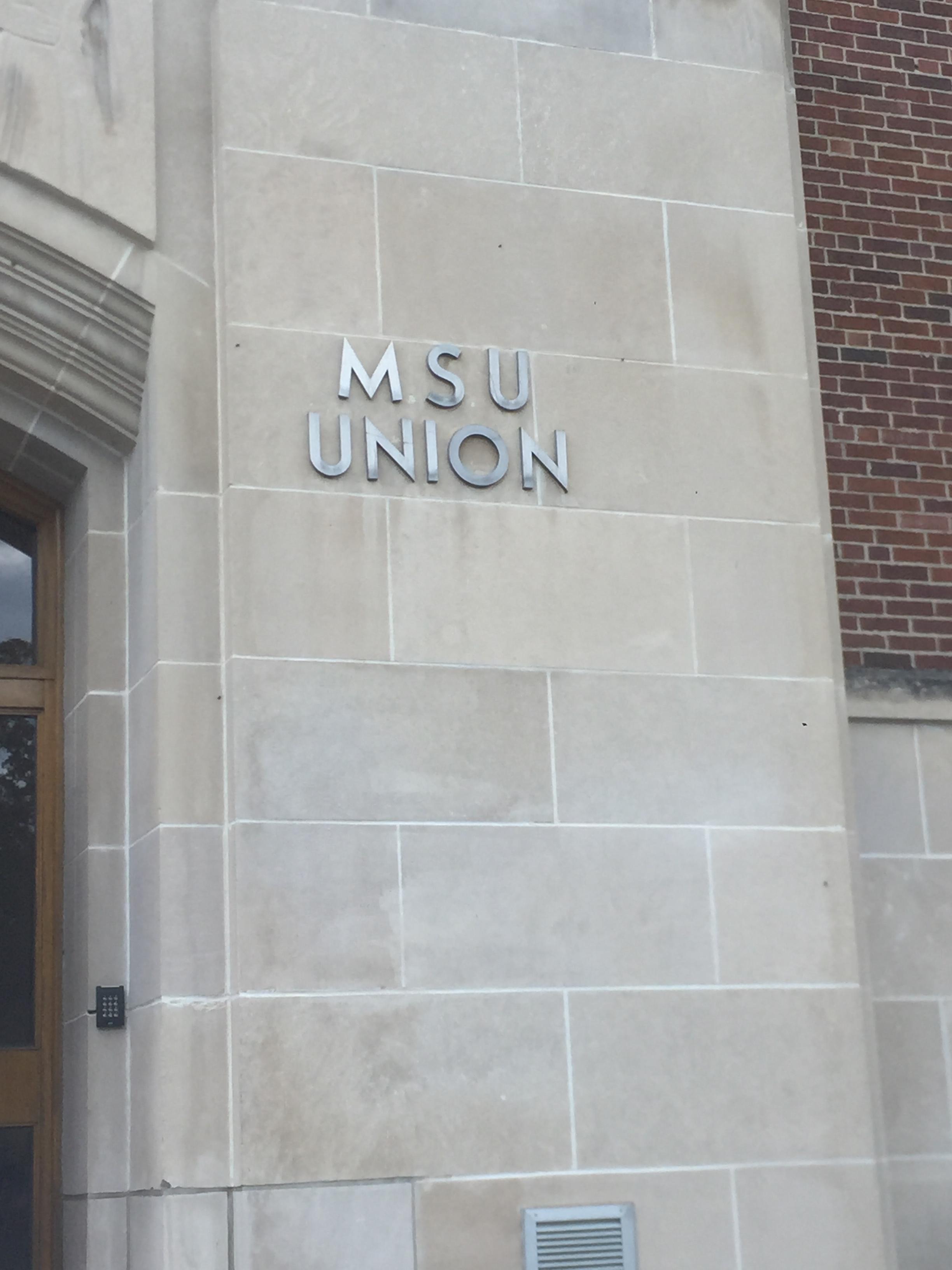 Michigan State University Student Union sign