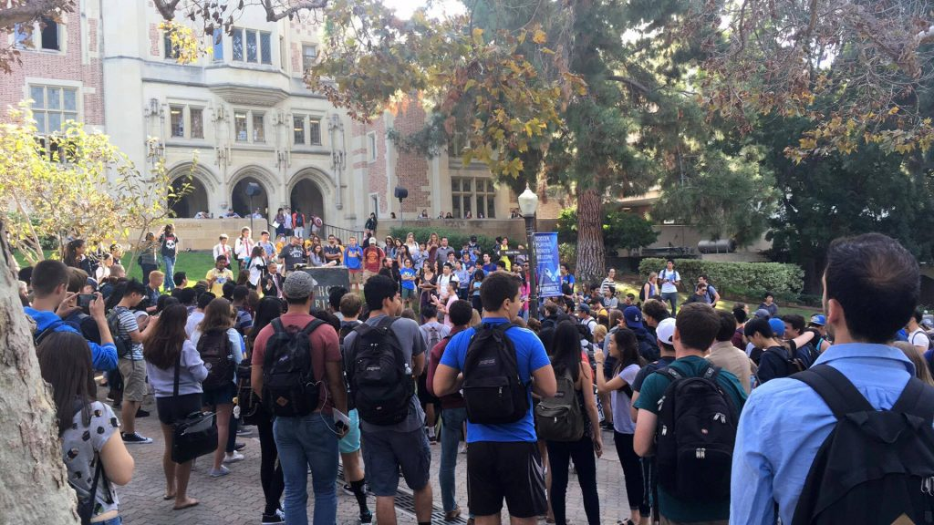 Hundreds of students are currently standing by