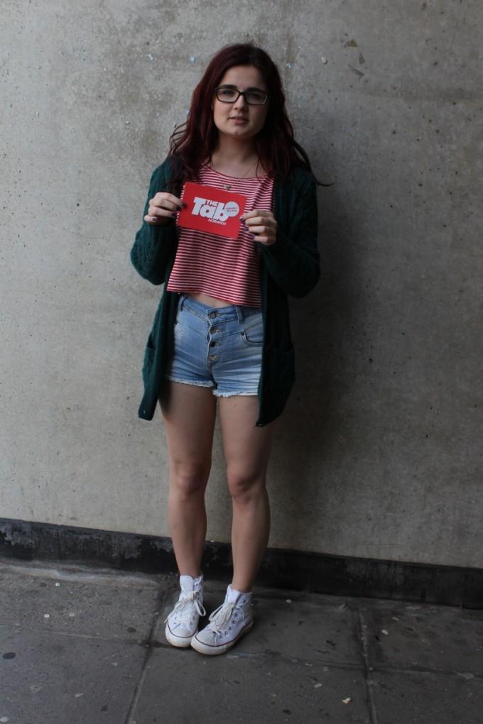 Cardigan- Ark. T shirt- American Apparel. Shorts- Zara. Shoes- Converse.