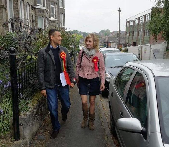 Clive Lewis on the campaign trail earlier this year