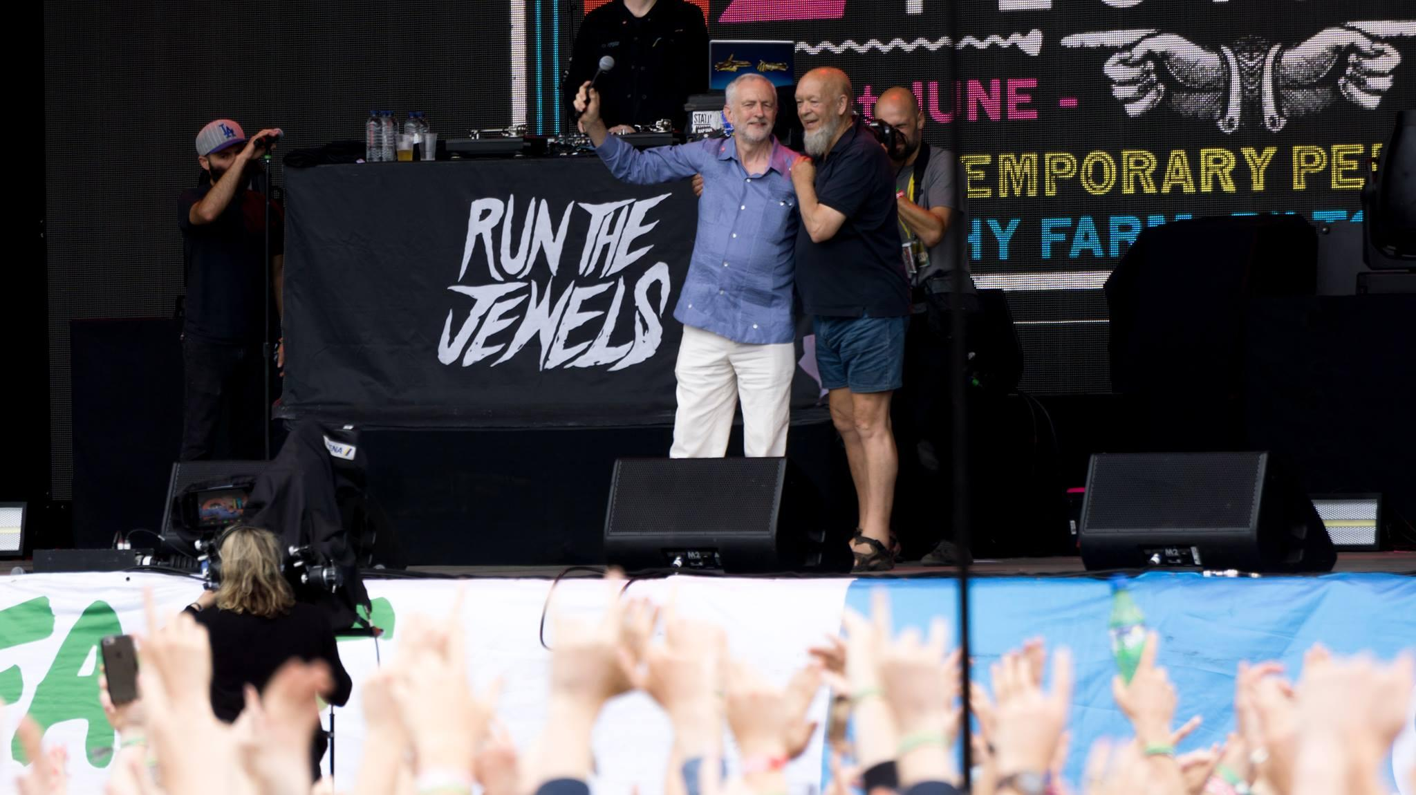 Corbyn opening up for Run The Jewels at Glastonbury this summer