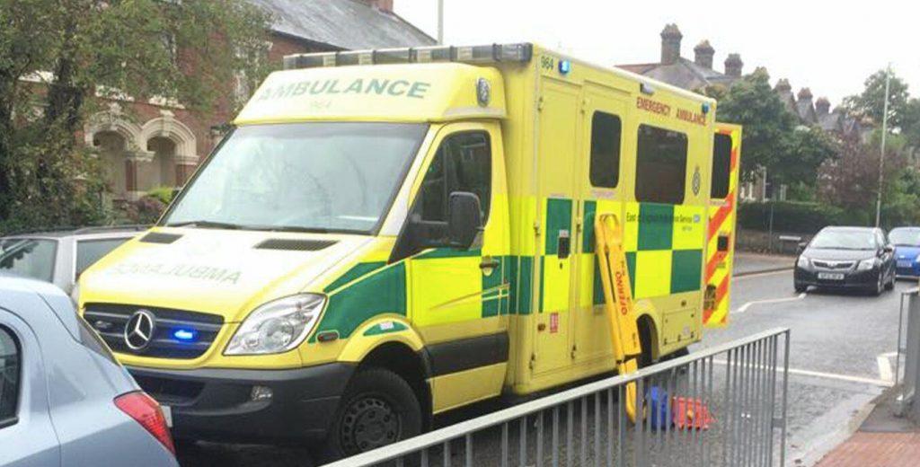 Image may contain: Truck, Car, Automobile, Transportation, Ambulance, Vehicle, Van