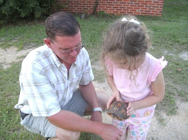 daddy ashley and turtle