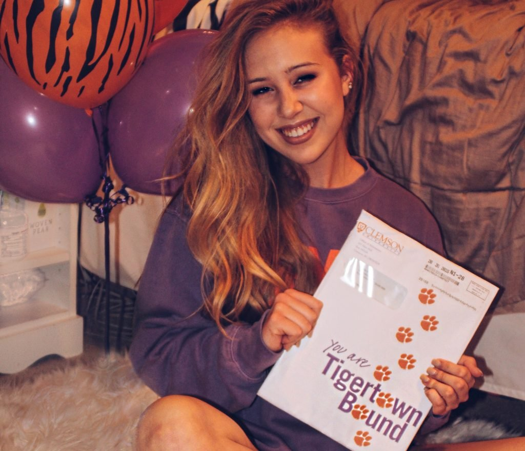 clemson acceptance letter clemson welcomes class of 2021 we asked them how they 20861 | natalie weaver 1024x880