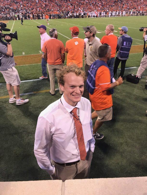 'Rocco Refsnyder' on the sidelines of the Clemson game