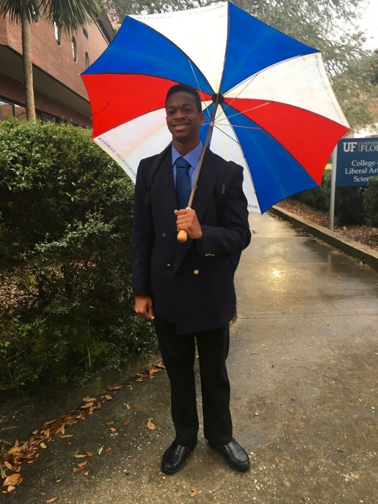 Looking dapper in this damp day. Wow...I should have never dropped out of AP Lit.