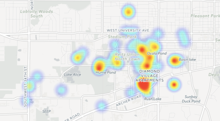 Campus Map Ufl.A Quarter Of All Reported Sexual Assaults At Uf Occur In Frats