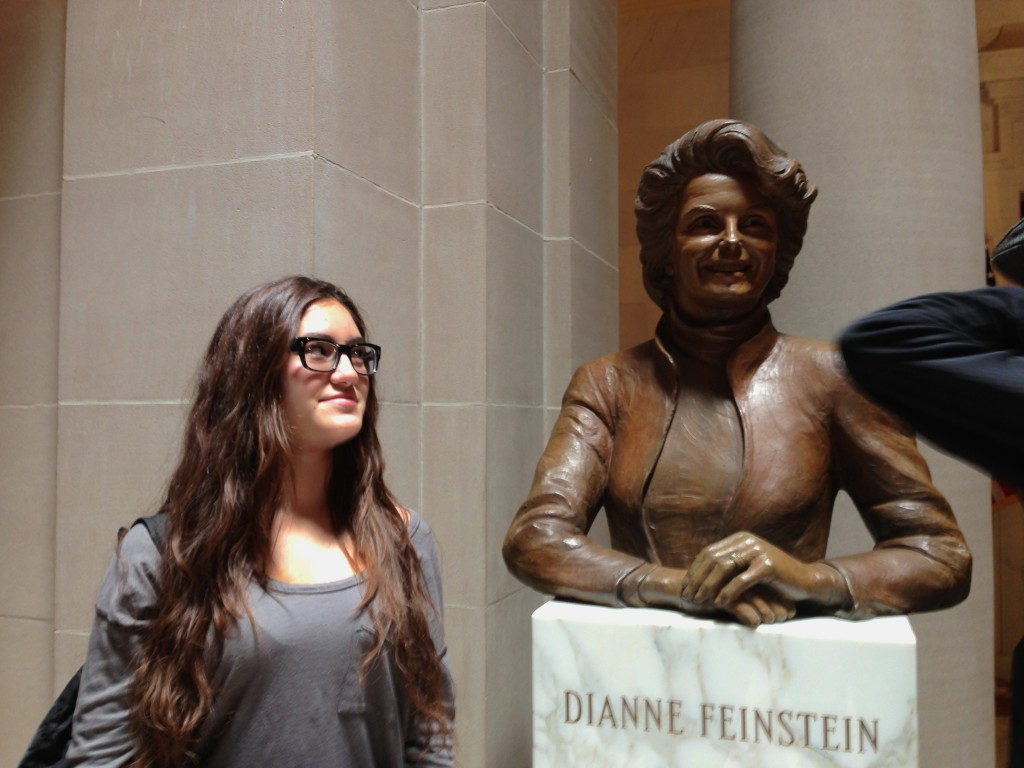 Oh Tiana-begrudgingly-staring-at-a-bust-of-Senator-Dianne-Feinstein-from-four-years-ago, if only you knew how much crazier politics will get.