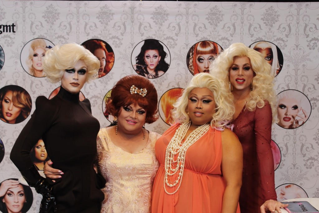 Everything you missed at rupauls dragcon 2016 day two group photo left to right pearl ginger minj jiggly caliente sherry vine m4hsunfo