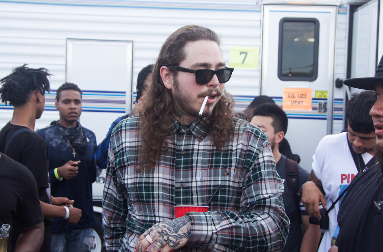Post Malone backstage at Day N Night 2017